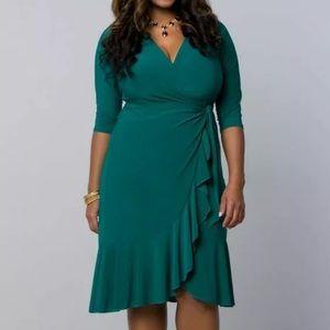 NWT Kiyonna Plus Whimsy Wrap Dress 3X